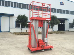 6-12m Double Masts Aluminum Aerial Work Platform with CE Certificate pictures & photos
