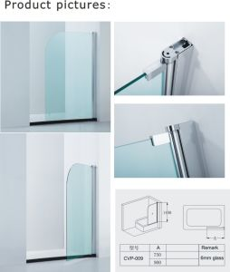 6mm Tempered Glass Bathtub Screen with Certifications (A-CVP009) pictures & photos