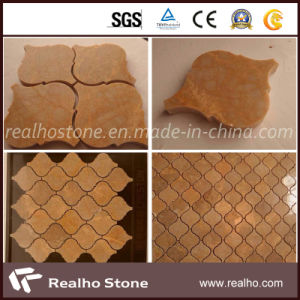 Unitque & Chinese Imperial Gold Marble Mosaic with Own Quarry pictures & photos