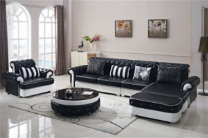 Home Furniture Modern Wooden Leather Sofa pictures & photos