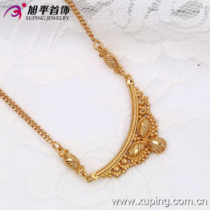 Xuping Fashion 18k Gold Color Luxury Butterfly Heraldic Necklace (42486) pictures & photos