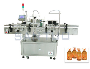 Oil Bottle Side Labeler (Adhesive Labeling)