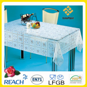 2016 Hot Sale PVC Printed Transparent Tablecloth China Factory Wholesale pictures & photos