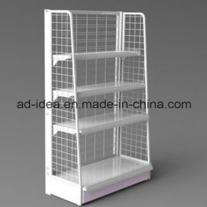 Grocery Store White Metal Display Rack/Advertising Stand for Store (AD-0801A) pictures & photos