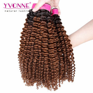 Most Fashion Ombre Hair Brazilian Human Hair Weft pictures & photos