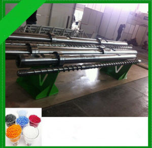Granulating Production Line Type and Bimetallic Single Screw Design Feed Screw pictures & photos