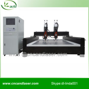 2 Heads CNC Stone Enraving Machine pictures & photos
