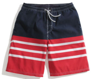 Fashion Stripe Printing Men′s Beach Shorts Wholesale Garment Men Clothes pictures & photos