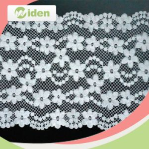 Hot Selling Latest Design Mesh Pattern Swiss Fabric Stretch Lace pictures & photos