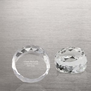 Beveled Circle Crystal Collection Round Paperweight (#72965) pictures & photos