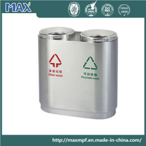 Hot Sale Two Compartments Stainless Steel Waste Container pictures & photos
