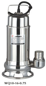 Wq Flange Stainless Steel Cast Iron Submersible Sewage Pump (WQ100-10-7.5ST) pictures & photos