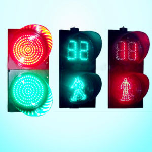 High Flux Red & Green LED Flashing Pedestrian Traffic Light / Traffic Signal for Pedestrian Crossing pictures & photos