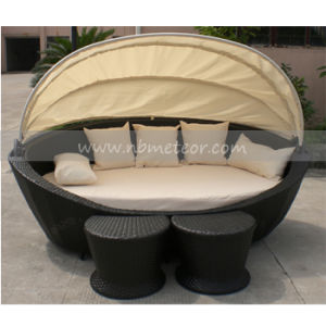 Rattan Garden Sofa Bed Lounge with Ottoman (MTC-130) pictures & photos