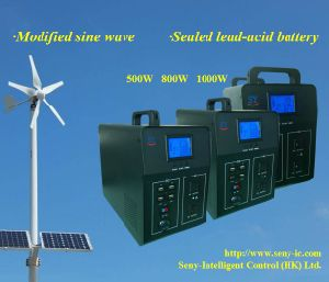 500W/800W/1000W Modified Sine Inverter with Solar Charger and Lead-Acid Battery
