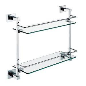 Bathroom Wall Mounted Double Glass Shelf