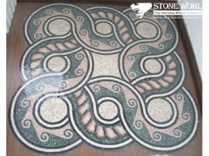 Natural Marble Stone Waterjet Medallion for Hotel Hall (MML010) pictures & photos