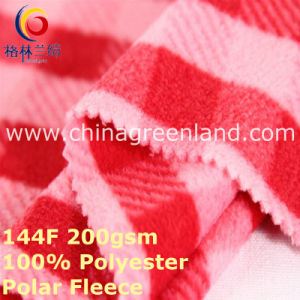 Polyester Knitted Printing Polar Fleece Fabric for Garment Coat (GLLML397) pictures & photos