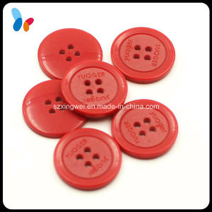 Custom Concave Logo Fashion Four Holes Resin Accessory Button pictures & photos