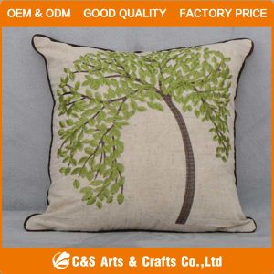 Custom Hot Sale Embroidery Fabric Cushion for Home Textile pictures & photos