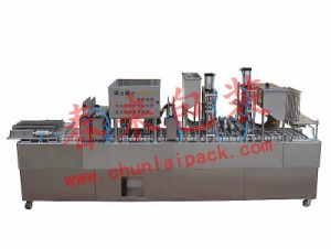 Bg60A-6cabsorb Paper Film Type Yogurt Filling and Sealing Machine pictures & photos