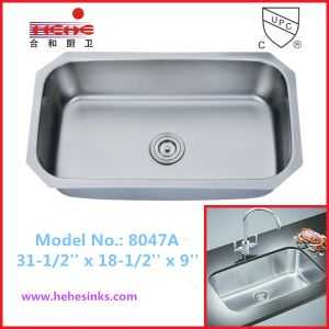 18 Gauge Single Bowl Kitchen Sink with Cupc Certification, Bar Sink (8047) pictures & photos
