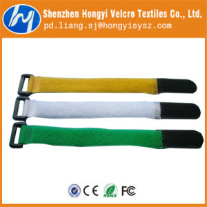 Reusable Ring Hook & Loop Velcro for Wire/Cable Bundling pictures & photos
