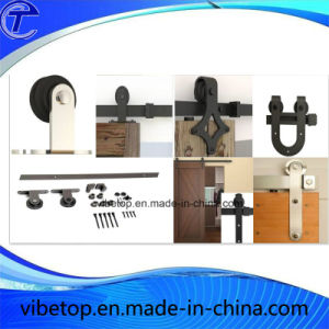 High Quality Black Steel Countryside Barn Door Hardware pictures & photos