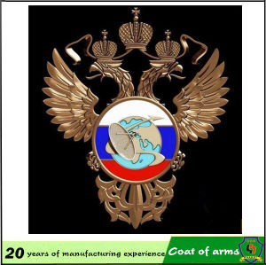 Double-Head Eagle Metal Emblem for Decoration pictures & photos