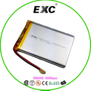 Exc906090 6000mAh Rechargeable Lithium Polymer Battery for Card Reader pictures & photos