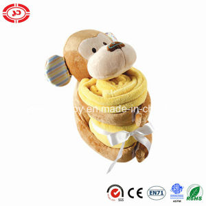 Plush Sitting Monkey Soft Baby Blanket Gift Set pictures & photos