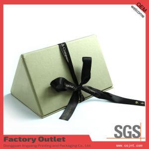 Triangular Prism Shape Perfume Box with Ribbon