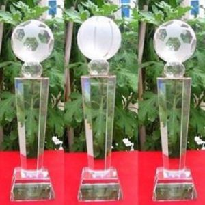 New Design Crystal Trophy, Football Crystal Trophy Ks040425 pictures & photos
