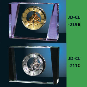 Luxury Purple or Black Mixed Crystal Glass Quartz Clock pictures & photos