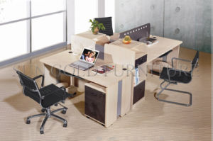 Classic Wooden Partition Cheap Office Workstation for 3 Person (SZ-WS349) pictures & photos