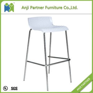 Hot Selling Durable Plastic Bar Stool Chair with Metal Feet (Harvey) pictures & photos