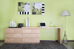 Modern Wooden Veneer Laminated Stretchable Office Desk (N704-ST)