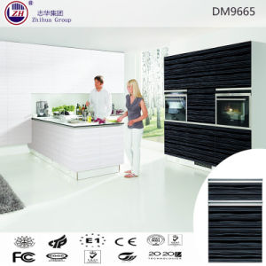 Acrylic Black Color Kitchen Pantry Cabinet pictures & photos