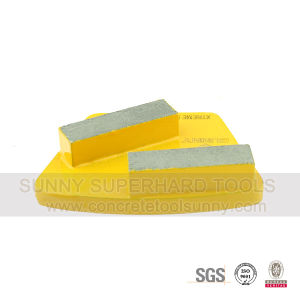 Trapezoid Diamond Grinding Pads Shoe- 2 Bar Segmented pictures & photos