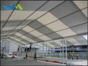 10X30m Aluminum Structure Warehouse Storage Tent with Steel Metal Wall and Shutter Door pictures & photos