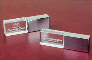 Custom Logo Crystal Pen Drive USB with LED Light pictures & photos
