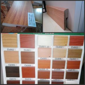 7cm Height Angel L MDF Wall Skirting Board for Wood Flooring pictures & photos