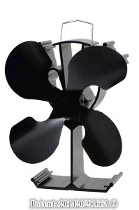 Eco-Friendly Wood /Gas Stove Fan with 4 Blades pictures & photos