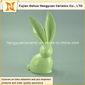 Handmade Craft Big Ears Unique design Ceramic Easter Rabbits pictures & photos