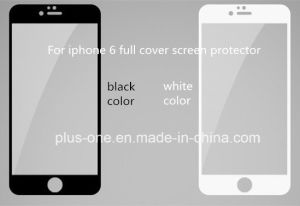 Silk Printing Tempered Glass Screen Protector for iPhone6/6s Full Cover pictures & photos