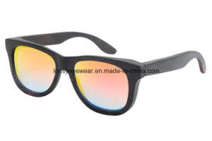 Ebony Wooden Sunglasses with Mirror Red Tac Polarized Lens (GA207-1)