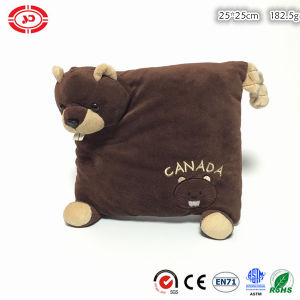 Beaver Brown Cute Plush Soft Stuffed Custom Square Pillow pictures & photos