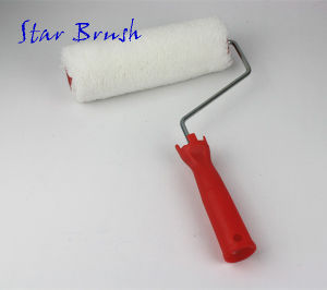 White Acrylic Paint Roller with Red Handle