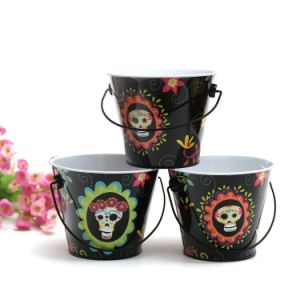 Hot Sale Halloween Printed Tin Buckets pictures & photos