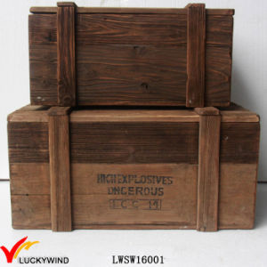Recycled Fir Wood Decorative Chest Trunk Organizer pictures & photos